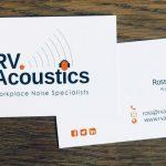 RV Acoustics Business Cards