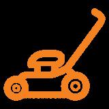 lawn-mower-icon - orange